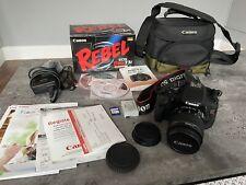 Canon EOS Rebel T3i 18.0MP Digital SLR Camera EF-S 18-55mm plus 1GB Card & Case