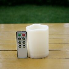 """1 Piece Battery Operated Flickering Flameless LED Candles w/ Remote 3""""x3"""""""