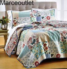 Martha Stewart Country Flora Patchwork Full / Queen Quilt Multi