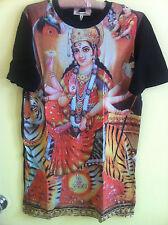 Urban Outfitters Hindu Goddess Tiger Krishna Durga stretch jersey top M BNWT
