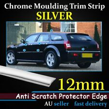 12mm Chrome Moulding Trim Strip Silver Cars Door Windows Edge Protector Line 5M