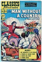 Classics Illustrated, Man Without a Country #63, $0.10 -1st Ed. HRN 62, VG