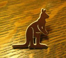 Brown Australian Kangaroo Lapel Pin - Vintage Australia Marsupial Animal Mascot