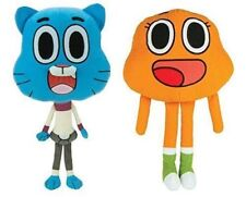 LARGE 14'' Amazing World Of Gumball Set of 2.NWT .Stuffed Plush Toy.NWT.Licensed