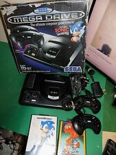 SEGA MEGADRIVE Video Game Console Bundle Complete+ SONIC 1 and 2 game BOXED
