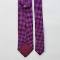 "Hugo boss tie l 59"" w 3"" pink  100% silk made in Italy necktie  pa0694"
