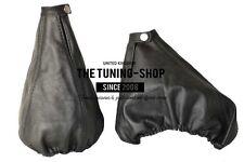 For Alfa Romeo 156 FL 03-05 Gear & Handbrake Gaiter Black Leather