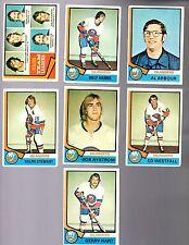 1974 - 75 Topps Hockey Set NEW YORK ISLANDERS Card Lot