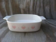 Corning Ware Dishes Forever Yours Beige Pink Hearts 1 Liter Casserole Dish