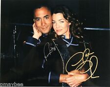 "Double Autographed 8""x10"" Photo Claudia Christian and Richard Biggs in Babylon 5"