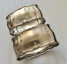 Continental Antique Solid Silver Napkin Napkin Rings/Clips