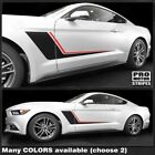 Ford Mustang 2005-2019 Duo Color Side Accent Stripes Decals (Choose Color)