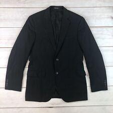 Hugo Boss Men 38R Black Wool Guabello Super 120s Biotech Jam Sharp Blazer Jacket