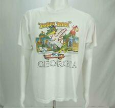 Vintage Georgia Party Time Printed T-Shirt White Large