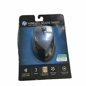 HP Wireless Mouse x4000 with laser sensor new in package