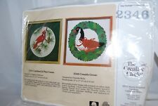 The Creative Circle Canada Goose Christmas Embroidery Kit #2346 NEW
