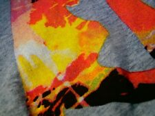 VINTAGE RUSTY T-Shirt Beach Mens Surf Sun Top SZ XL SINCE 1985 Fluro POP Neon