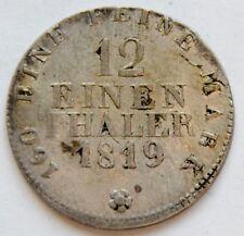 German states, SAXONY, 1/12 Einen Thaler 1819 - Friedrich August I