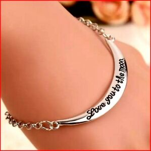 unusual gifts for her mum Love you bracelet wife girlfriend Daughter best ideal