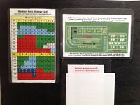 BLACKJACK & CRAPS STRATEGY CARD + FREE BETTING SEQUENCE CARD  M. Mitch Freeland