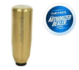 "NRG 3.5"" Shaft Style Weighted Gold Shift Knob - 10x1.5mm for Acura, Honda"