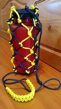 Customize Large Paracord Survival Bottle Holder w/ Shoulder Strap