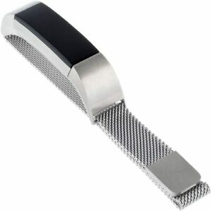 WITHit Designer Stainless Steel Mesh Replacement Band for Fitbit Alta/Alta HR