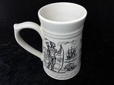 Lord Nelson Pottery China Commemorative Tankard - 1620-1970 Mayflower/Pilgrim