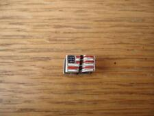 KAY JEWELERS CHARMED MEMORIES USA STAR & STRIPES FLAG CHARM STERLING SILVER