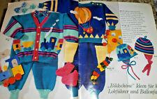 Baby Maschen  Burda  von 1989  Strickheft  Taufe  Bilderpullis Handarbeitsheft