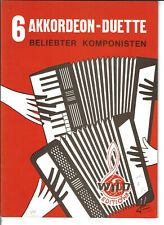 6 Akkordeon-Duette beliebter Komponisten  * Akkordeon Noten