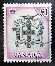 JAMAICA 1956 £1 Arms SG174 Cat £23 Fine/Used SEE BELOW NL853