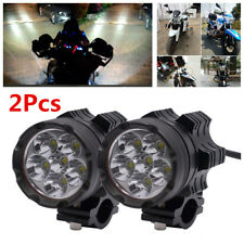 2X 60W Aluminum Alloy 6 Cree Chips LED Motorcycle Headlights Fog Spot Spotlight