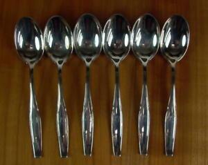 - 6 - Kaffeelöffel - 800er Silber - Monogramm AV
