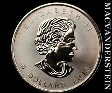 Canada: 2015 Maple Leaf 1 Oz .999 Fine Silver #V7630
