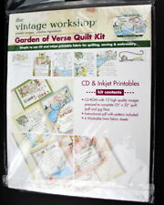 Garden of Verse Quilt Kit The Vintage Workshop CD Inkjet printable fabric panels