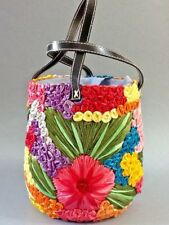 A Lovely Decorative Woven Handmade Basket with Handles