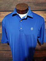 Footjoy Mens Large Blue White Striped Short Sleeve Golf Polo Shirt NWOT Stretch