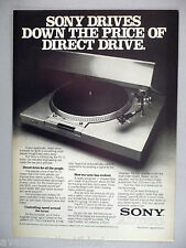 Sony PS-T1 Turntable PRINT AD - 1977 ~~ record phonograph