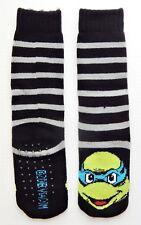 NINJA TURTLES Warm Plush Slipper Socks w/Gripper Soles Ages 4-10 Shoe Size 9 - 2