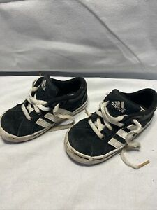 ADIDAS Toddler Casual Sneakers Black, White Size 7K Kids Shoes