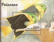 Benin - 1996 Pez - Sello Souvenir Hoja MNH - Scott #947