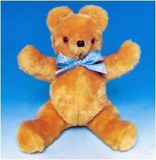 Teddy bear soft toy vintage sewing pattern S10056 (non fini objet)