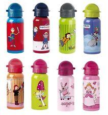 Sigikid Trinkflaschen mit verschiedenen Motiven 0,4l Alu-Trinkflasche Neu & OVP