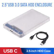 "USB 3.0 Enclosure 2.5"" External SATA Hard Drive Mobile Disk HDD/SSD Case New"