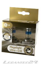 2er Set H4 12V 60/55W P43t GE 50440XNU General Electric Megalight Ultra +130%