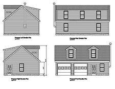 24'x36' Gable Roof Plans Blueprints Plans Prints 36'X24' Plan # 17-2436Gbld-02