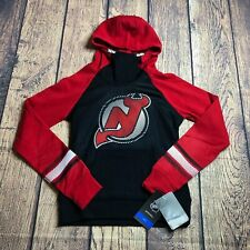 NHL Girls Medium 10/12 New Jersey Devils Logo Jacket Hoodie Sweatshirt NEW