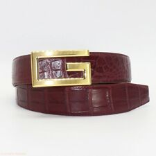 "Men's Belt Genuine Crocodile Alligator Skin Leather W1.5"", WITHOUT JOINTED"