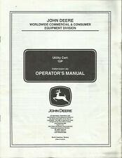 JOHN DEERE UTILITY CART 10P OMM155001 A6 English Spanish Operator's Manual (A)